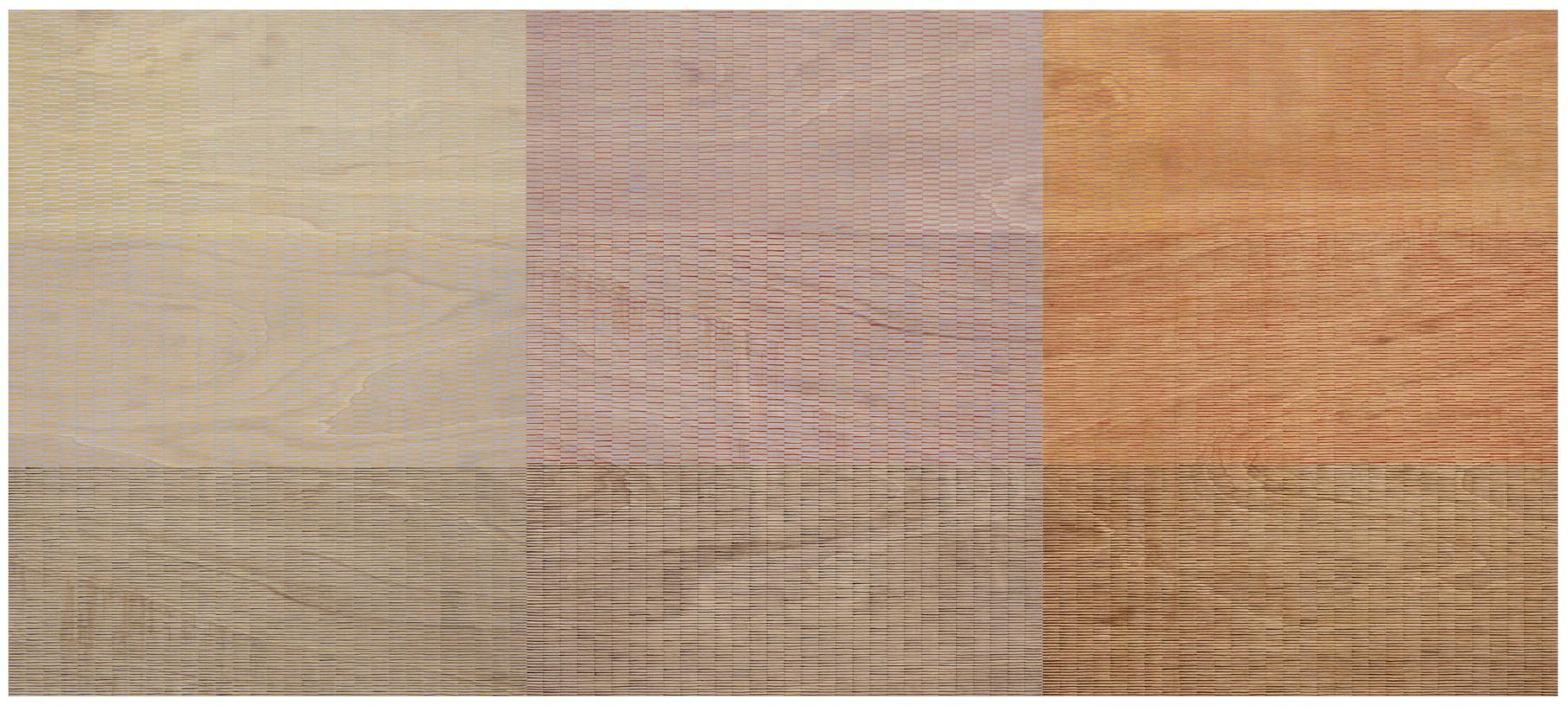 Eveline Kotai - Breathing Pattern #2, 2010, 120x270, acrylic on ply, available Art Collective WA