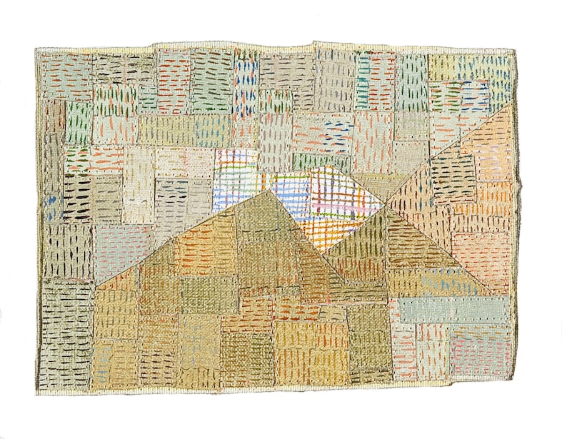 Eveline Kotai, After Klee #2, 2005, mixed media stitched collage, 20x20cm, private collection