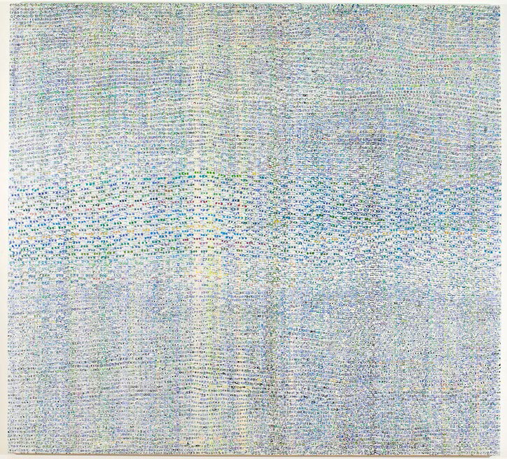 Eveline Kotai - Untitled Dots 2006 - 2008, Acrylic on Canvas, 170x183cm, collection of artist