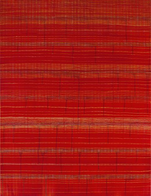 Eveline Kotai - Sari Red 2010, 150x115cm, Oil on Canvas, private collection