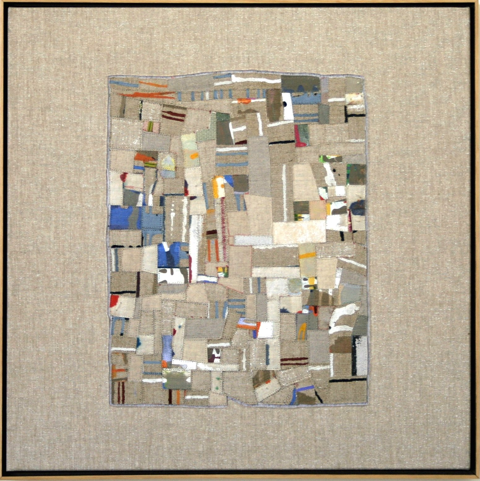 Eveline Kotai, Linen reconstruction, 2005, 50x50 - private collection