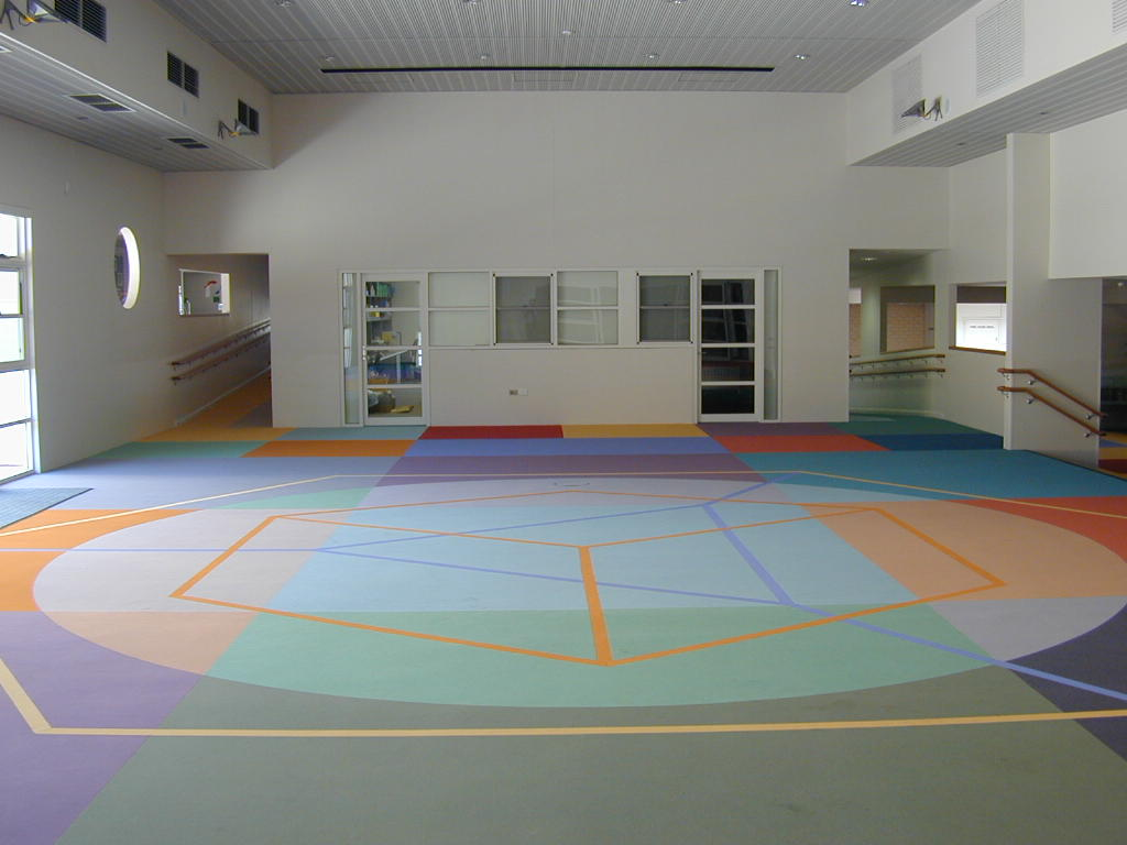 Eveline Kotai - Flotex Carpet Design - All Saints College 2003, Architects: Darryl Way and Associates.