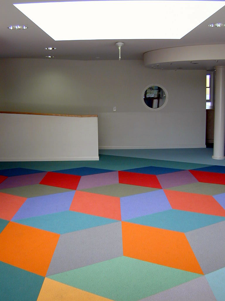Eveline Kotai - Flotex Carpet Design - All Saints College 2003. Architects: Darryl Way and Associates.