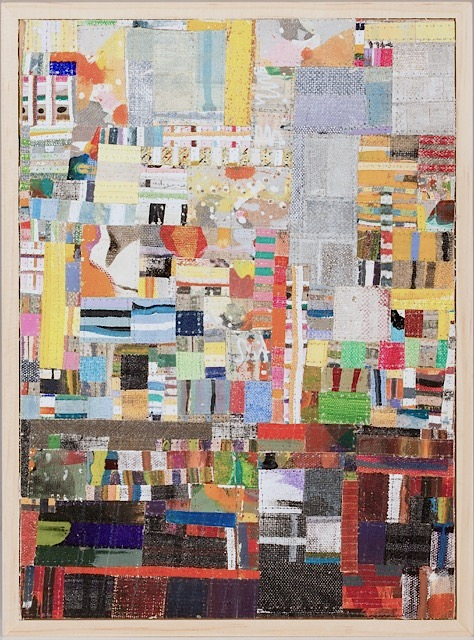 Eveline Kotai, Industrial #6, mixed media stitched collage, 25x20cm, private collection