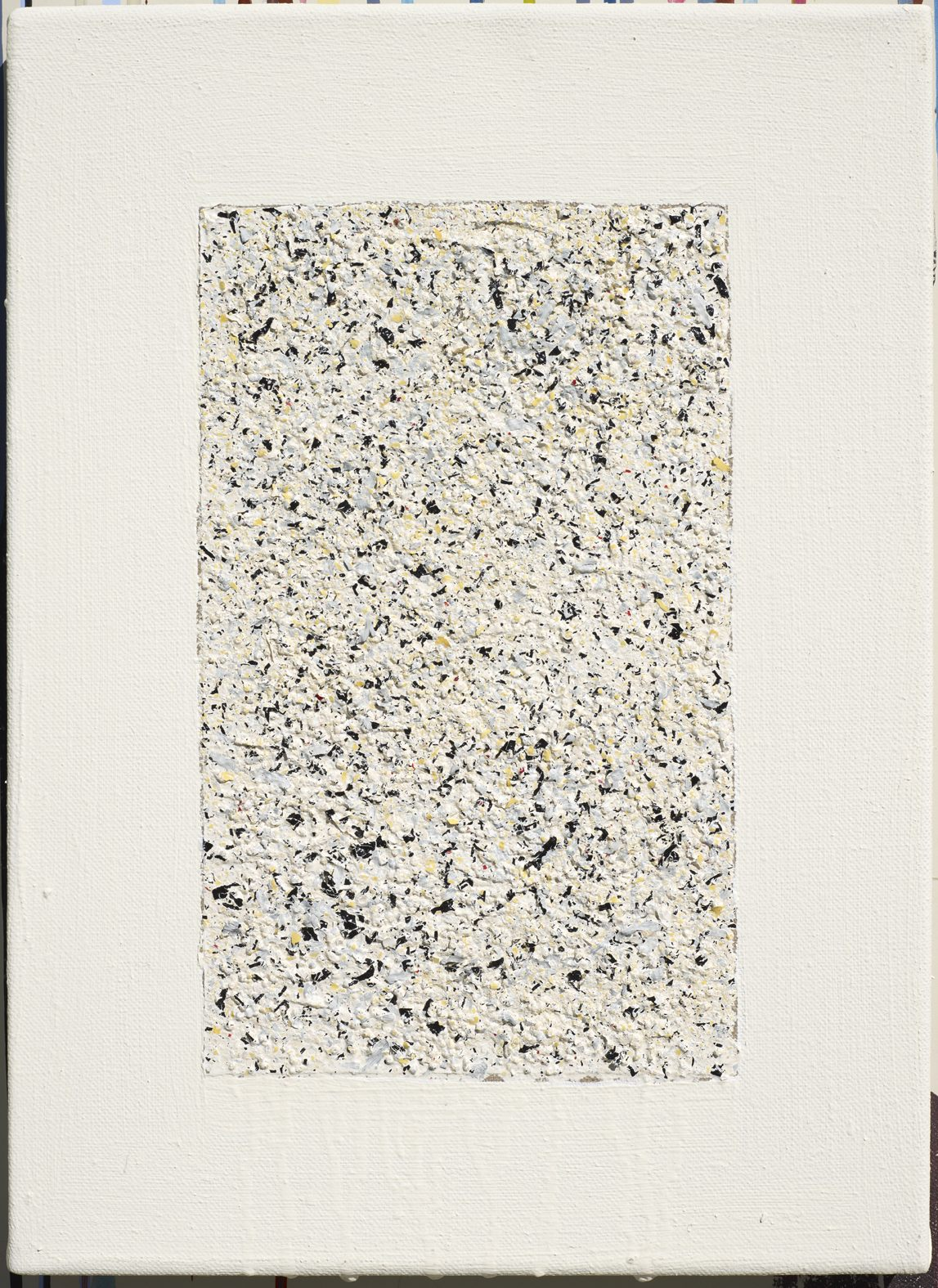 Eveline Kotai - Cosmos 1, 2010, paint flakes on linen, 30x20cm