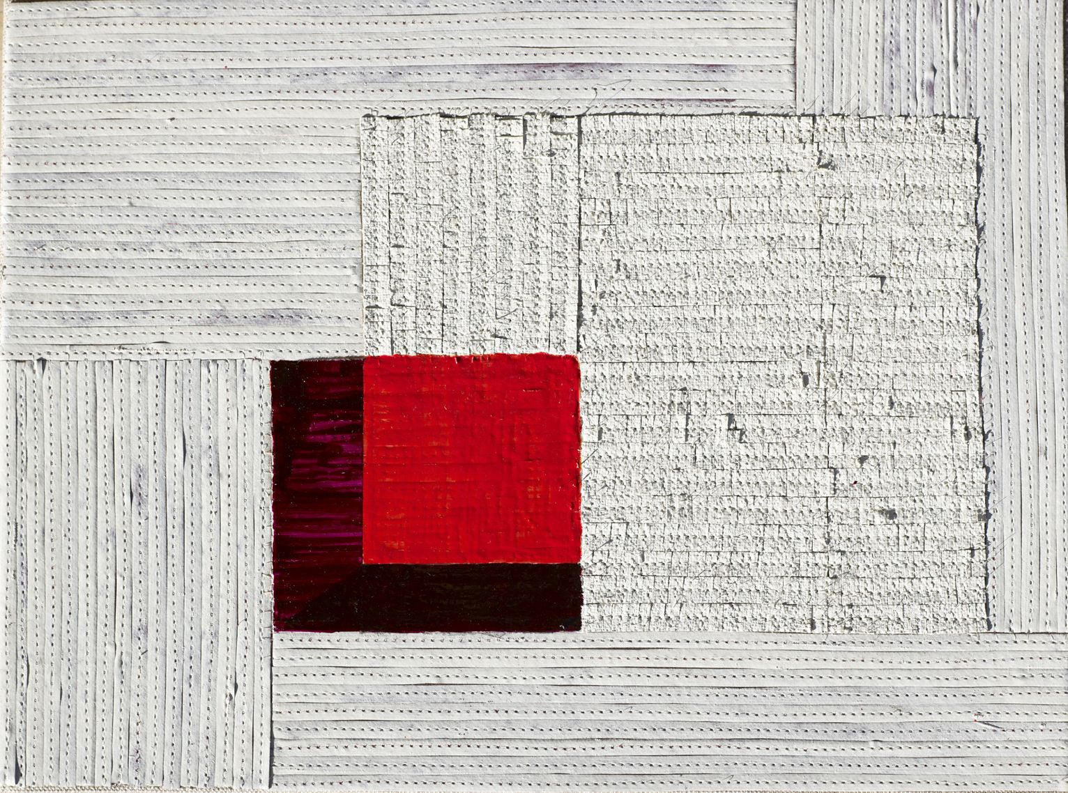 Eveline Kotai - White Burgundy, 2012, oil, nylon thread and linen, 25x35cm