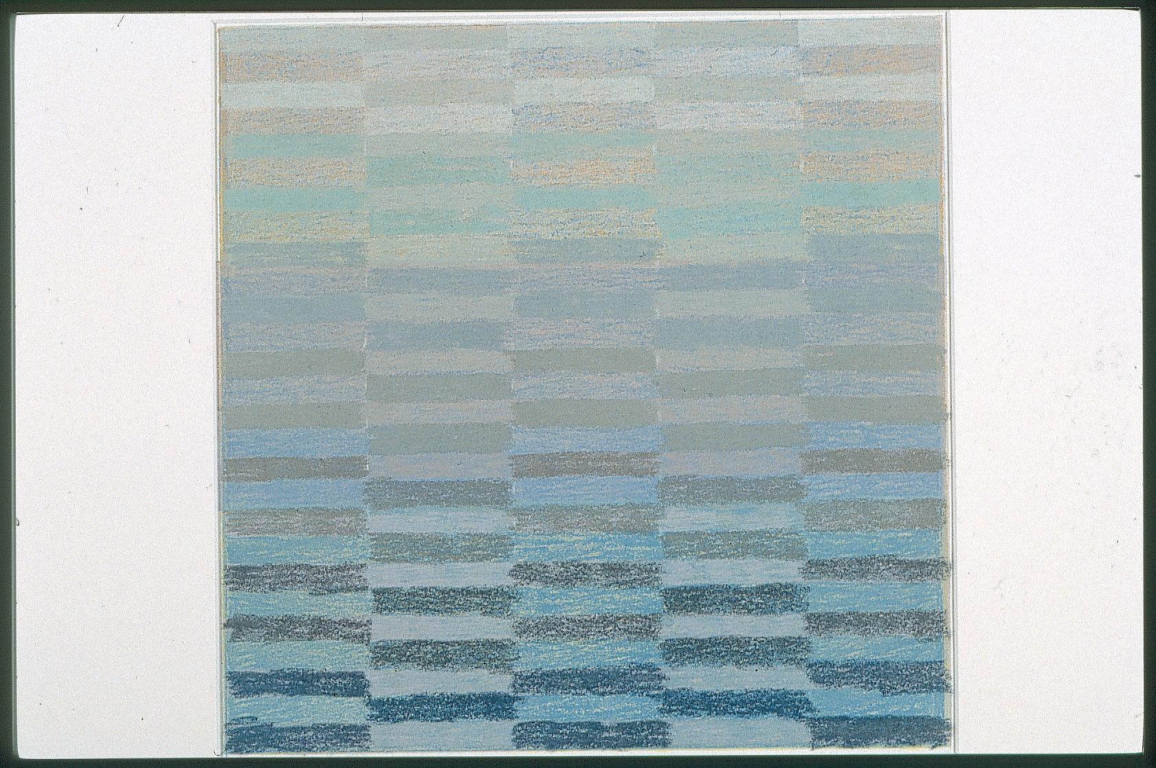 1999, Strip to Stripe, pastel on silkscreen, 27x27, Slide28.jpg