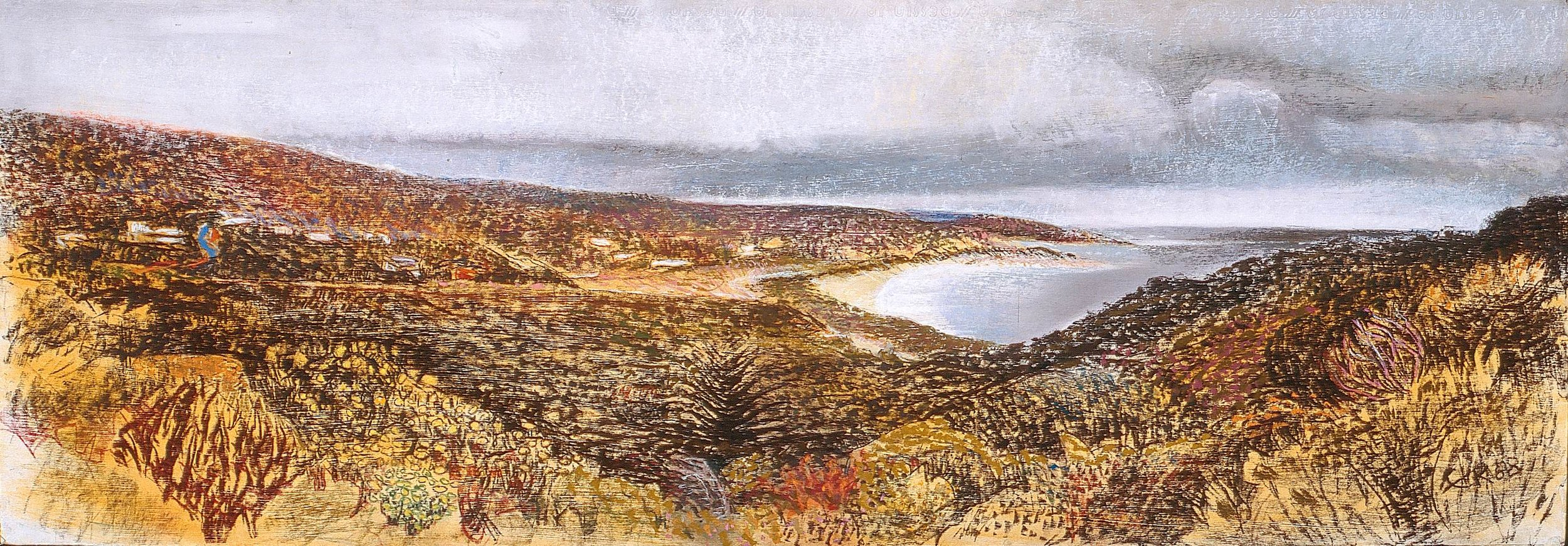 South to Prevelly 1988, pastel on Arches paper, 45 x 110cm. Private Collection