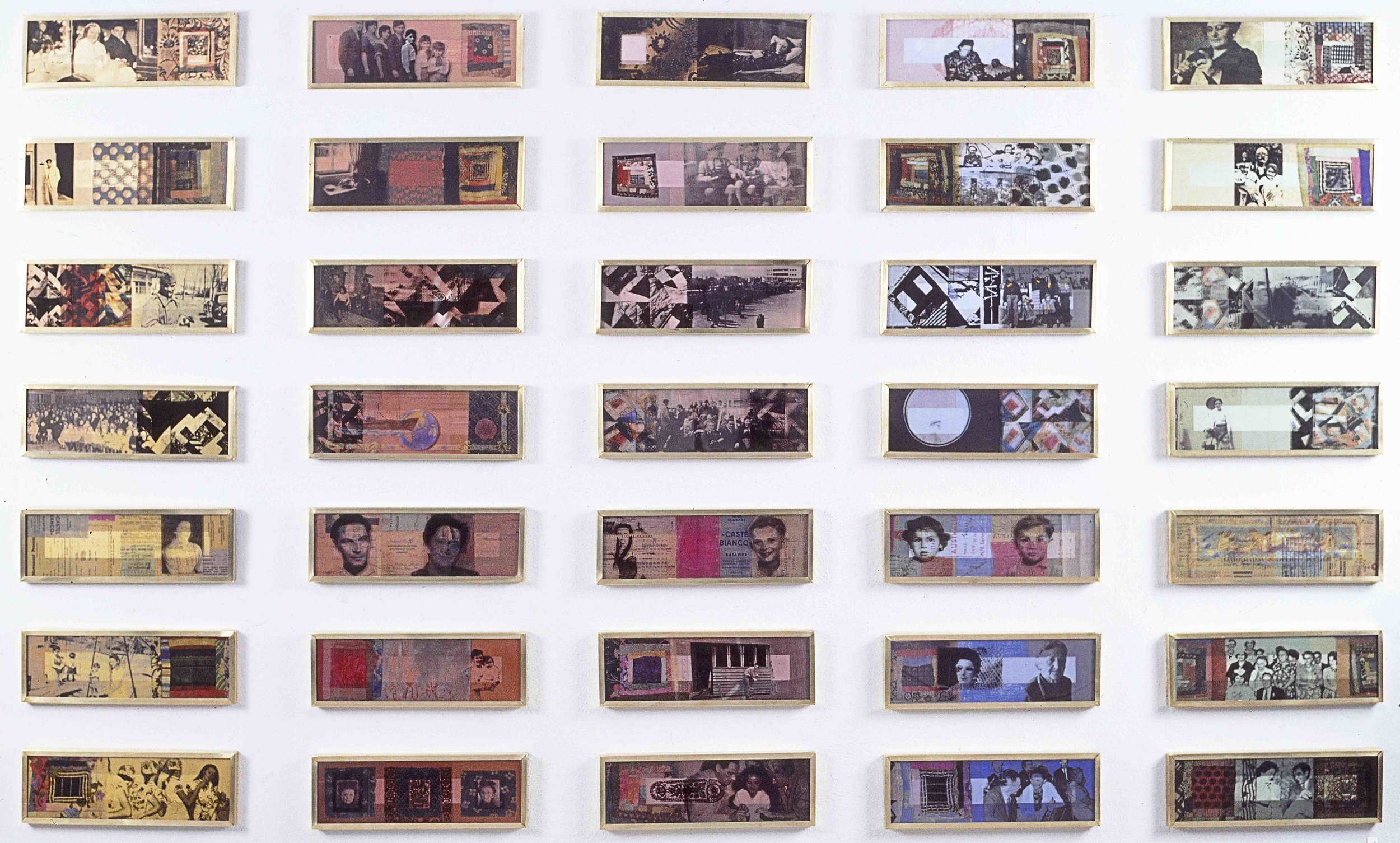 Quilt 1 (1934-1954) 1995, 15 x 45cm each (35 panels), photographic transfer on acrylic sheet with Bio paint on board. Art Gallery of Western Australia Collection.jpg