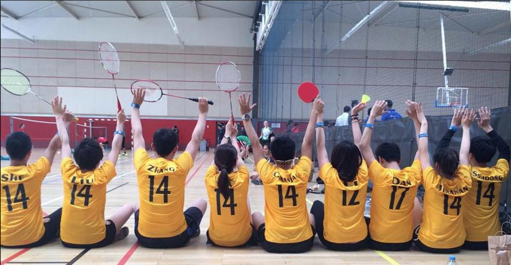 #11.  Yellow for the win! Cambridge badminton team: success at MBAT.  (via  @CambridgeMBA )