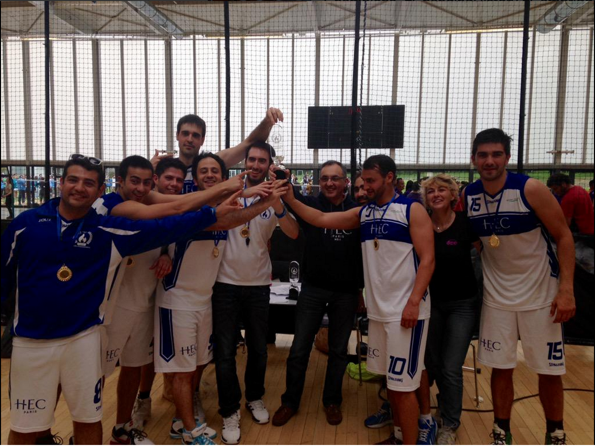 #4.  Live from the basketball courts, gold for the HEC Paris team.  (via  @meaghankappel )