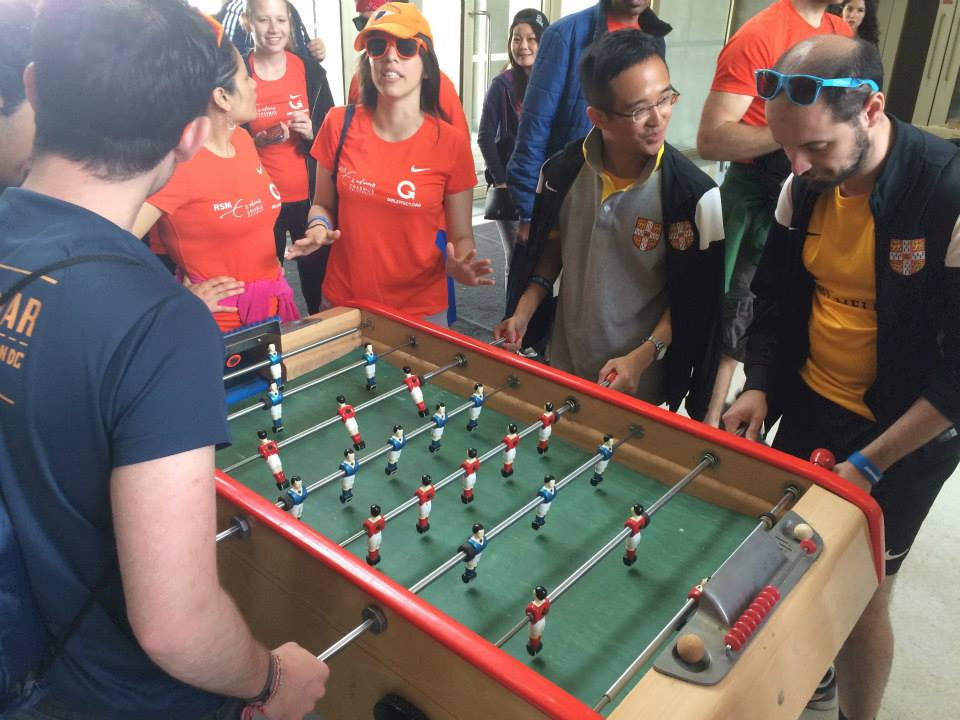#25.  RSM and Cambridge teams at the foosball tournament.  #babyfoot  (via  MBA Only )