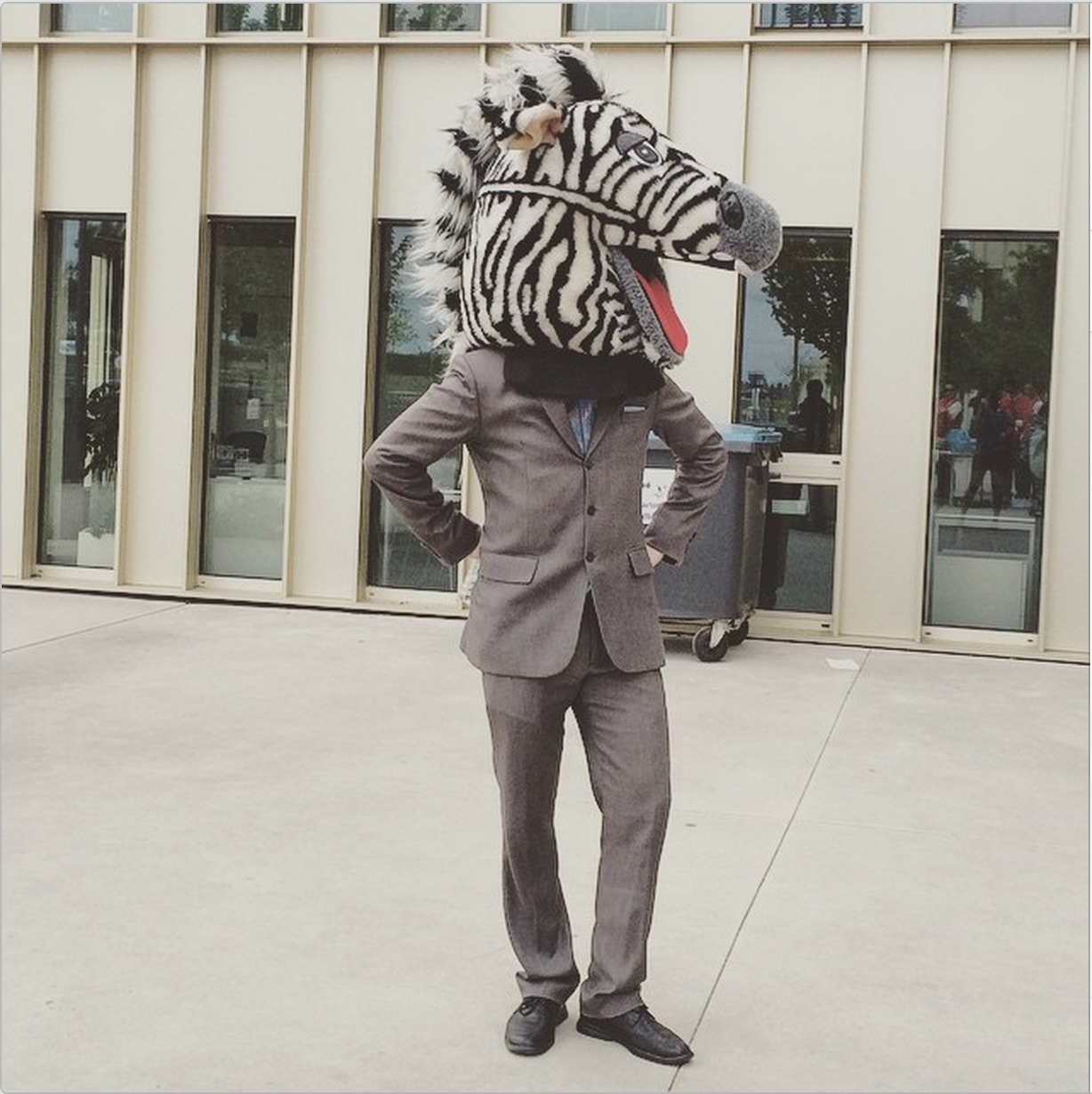 #12.  Keeping it classy at MBAT! The infamous Mr. Zebra prepping for the Casino Royale party...  (via  HECMBAT )