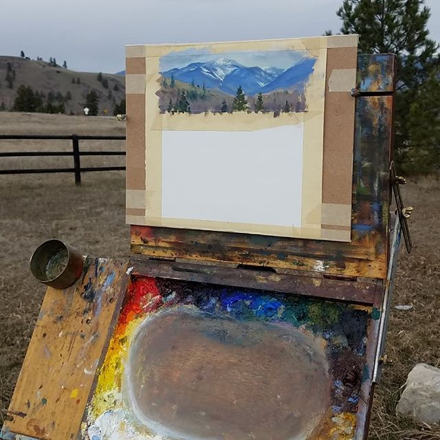 Good times today. . . . #trailerlife #pleinairpainting #pleinairmag #curljam