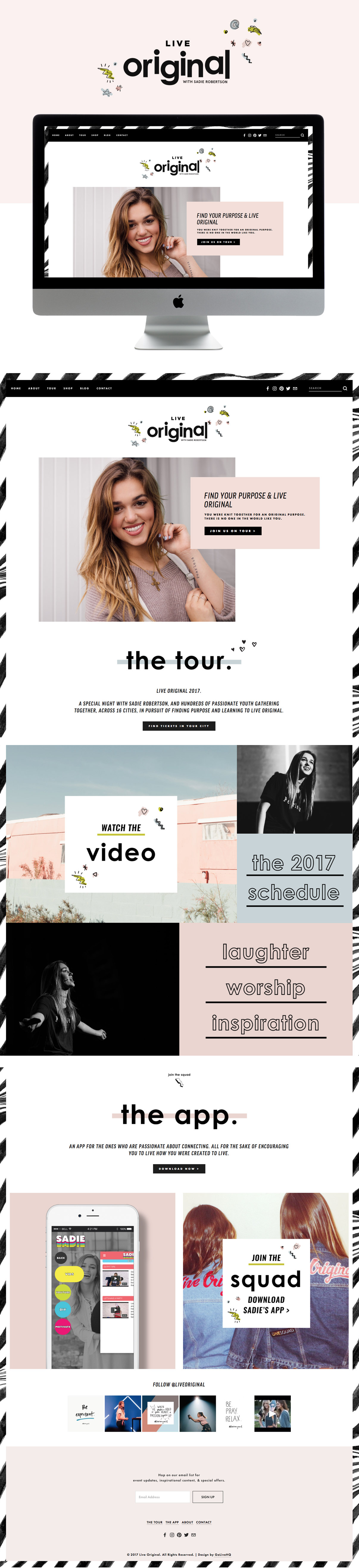 funky edgy squarespace inspiration