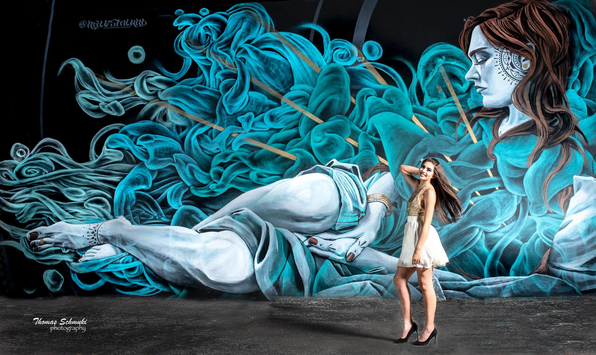 Wynwood Walls Model Shoot #1 with beautiful model Kelsey Silva Espino
