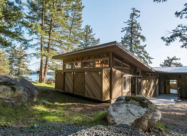 Tucked between old trees and boulders from glacial till, an office for @campnorwester minimizes site impact with a light footprint.