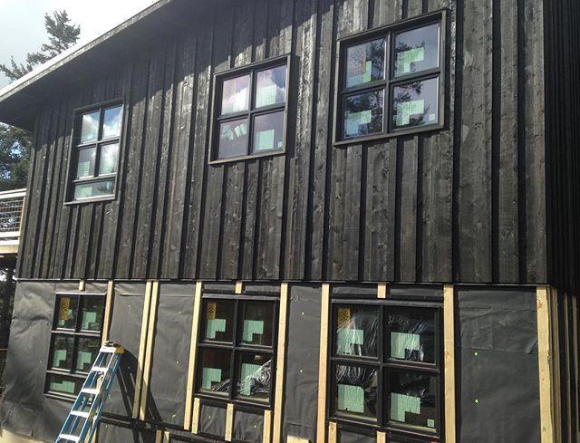 Siding coming along at the #bridgehouse