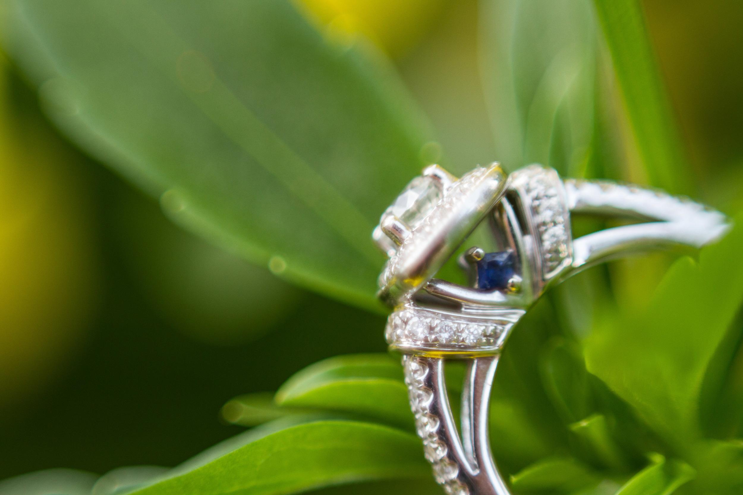 Blaylock Imagery McMenamins Edgefield Portland Oregon Engagement Ring Sapphire