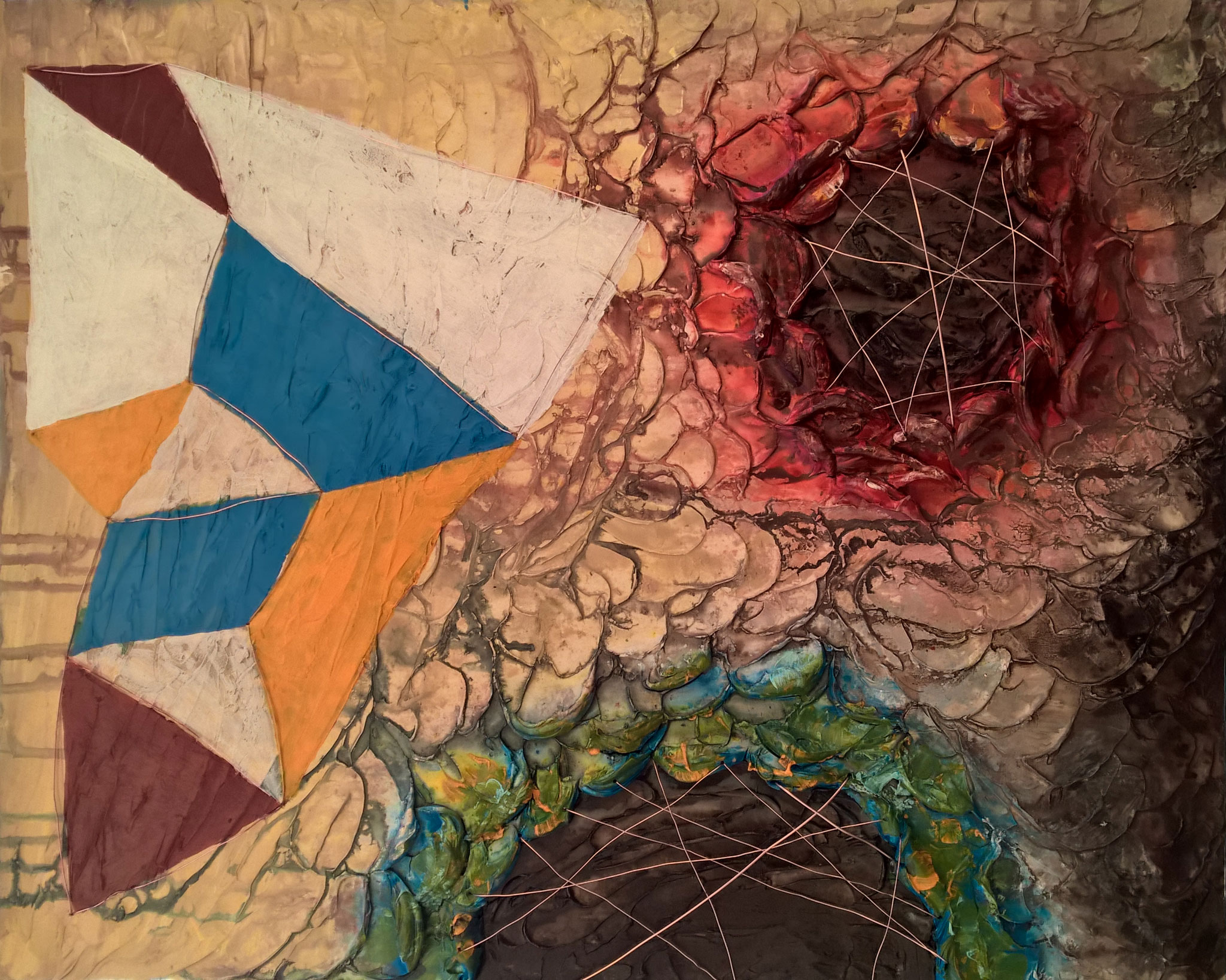 """'Craters and Constellations' 20""""W x  16  """"H x  1.5""""D by Lauren Hodges"""