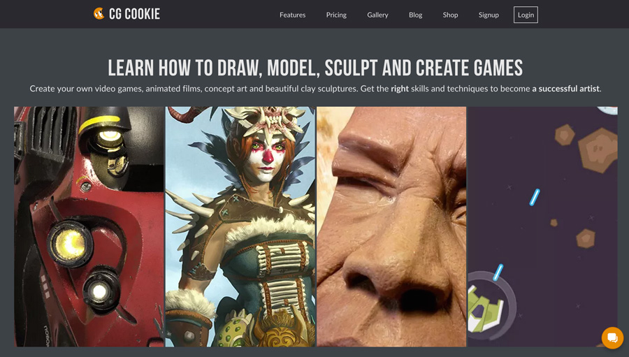 Screenshot of NEW CG Cookie 5 Homepage!