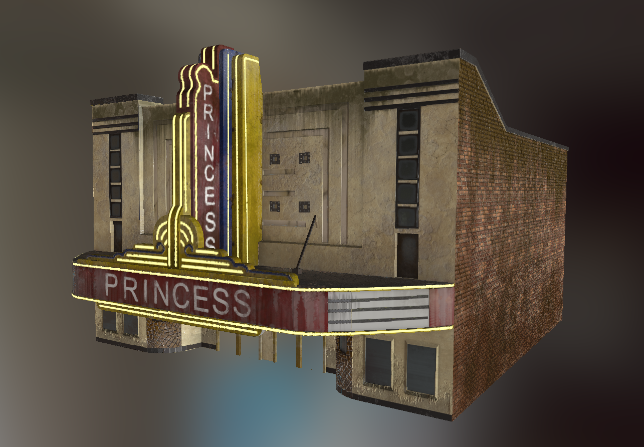 Princess Theater Model Side View - Lauren Hodges