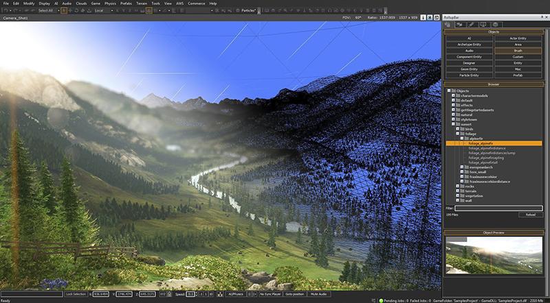Screenshot from Amazon Lumberyard. Beautiful!