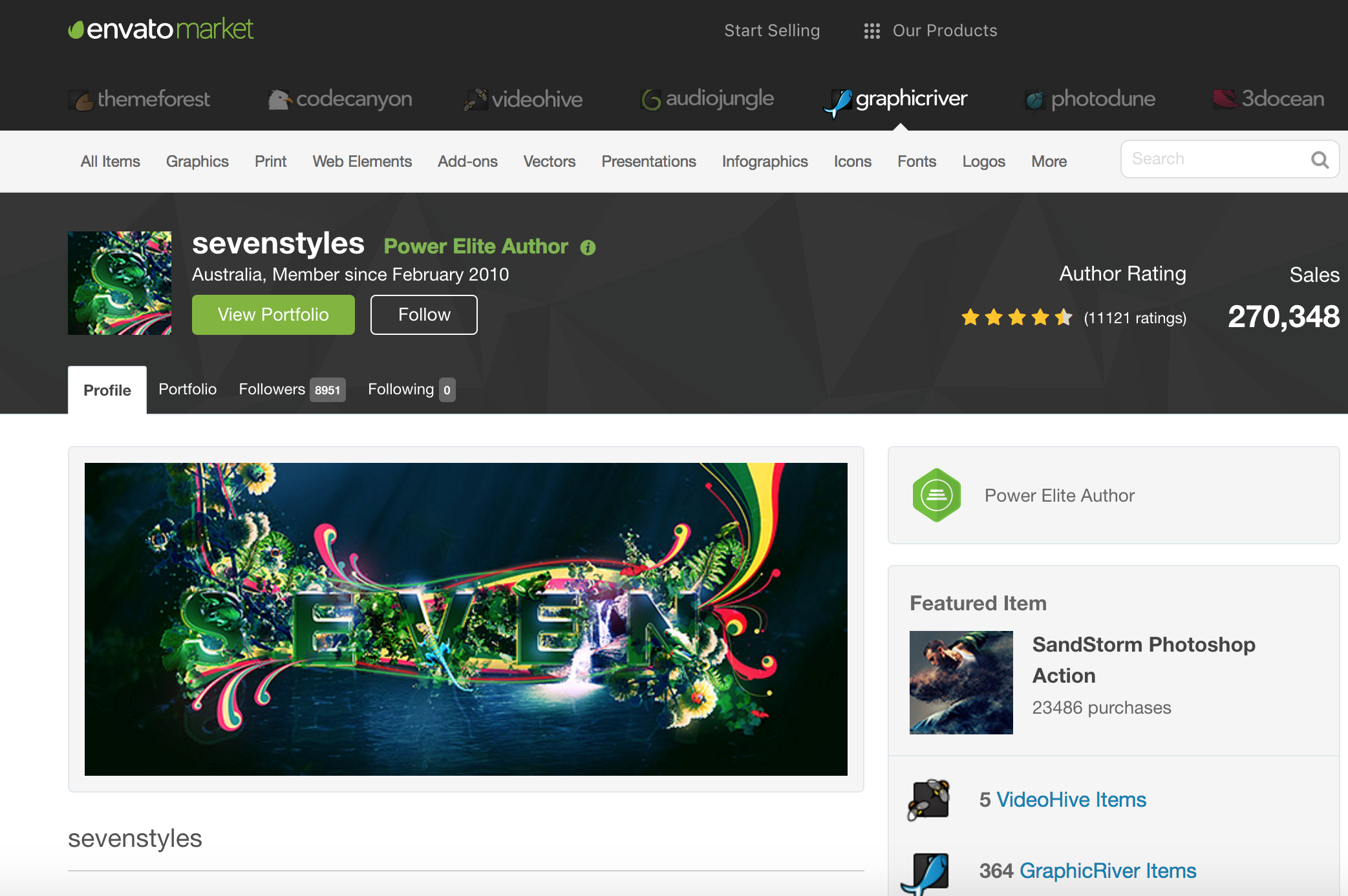 A popular store on the Envato Market. Just to give you an idea of what their storefronts look like.