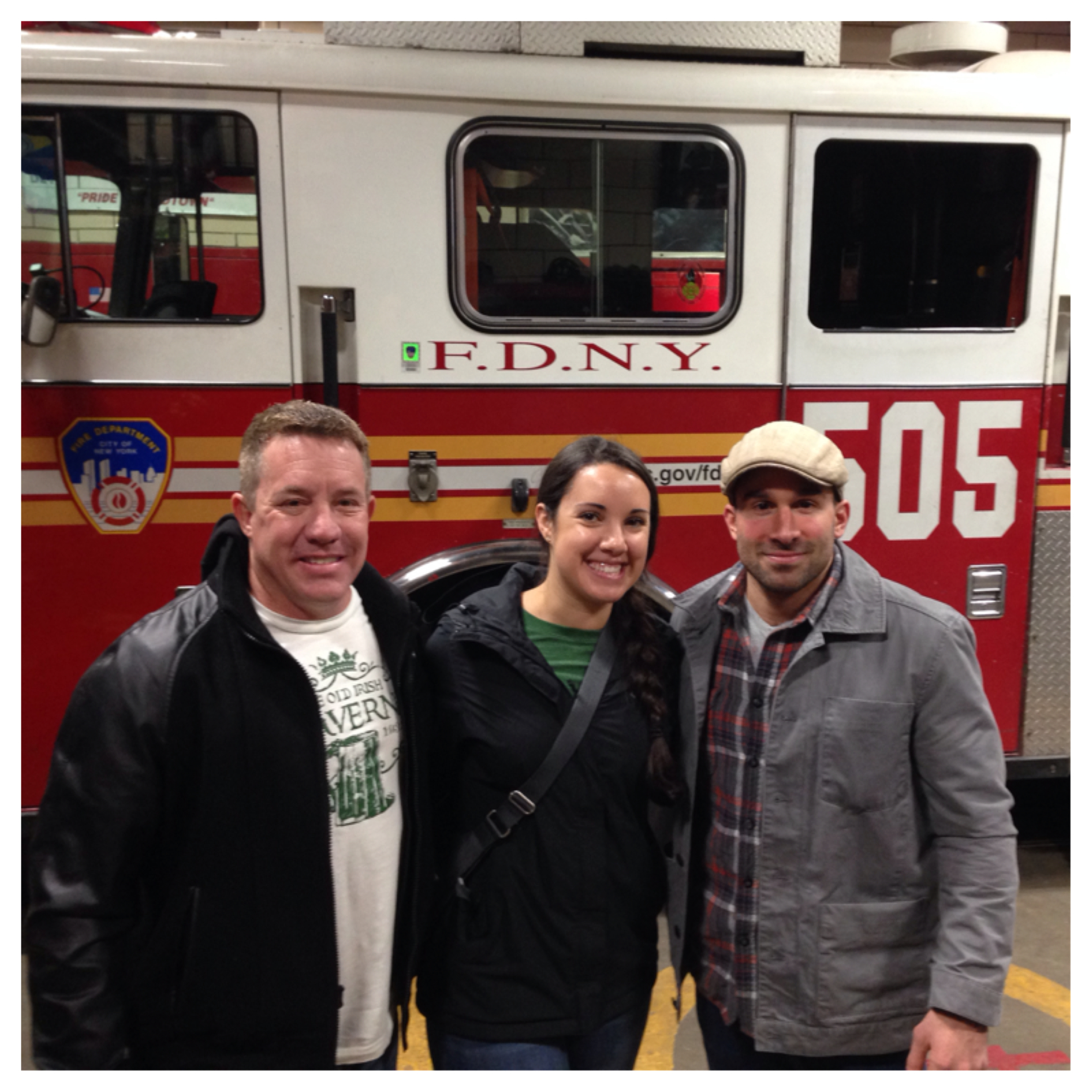"RANDY, KELLY AND I IN FRONT OF ""THE PRIDE OF MIDTOWN"" SPARE RIG"