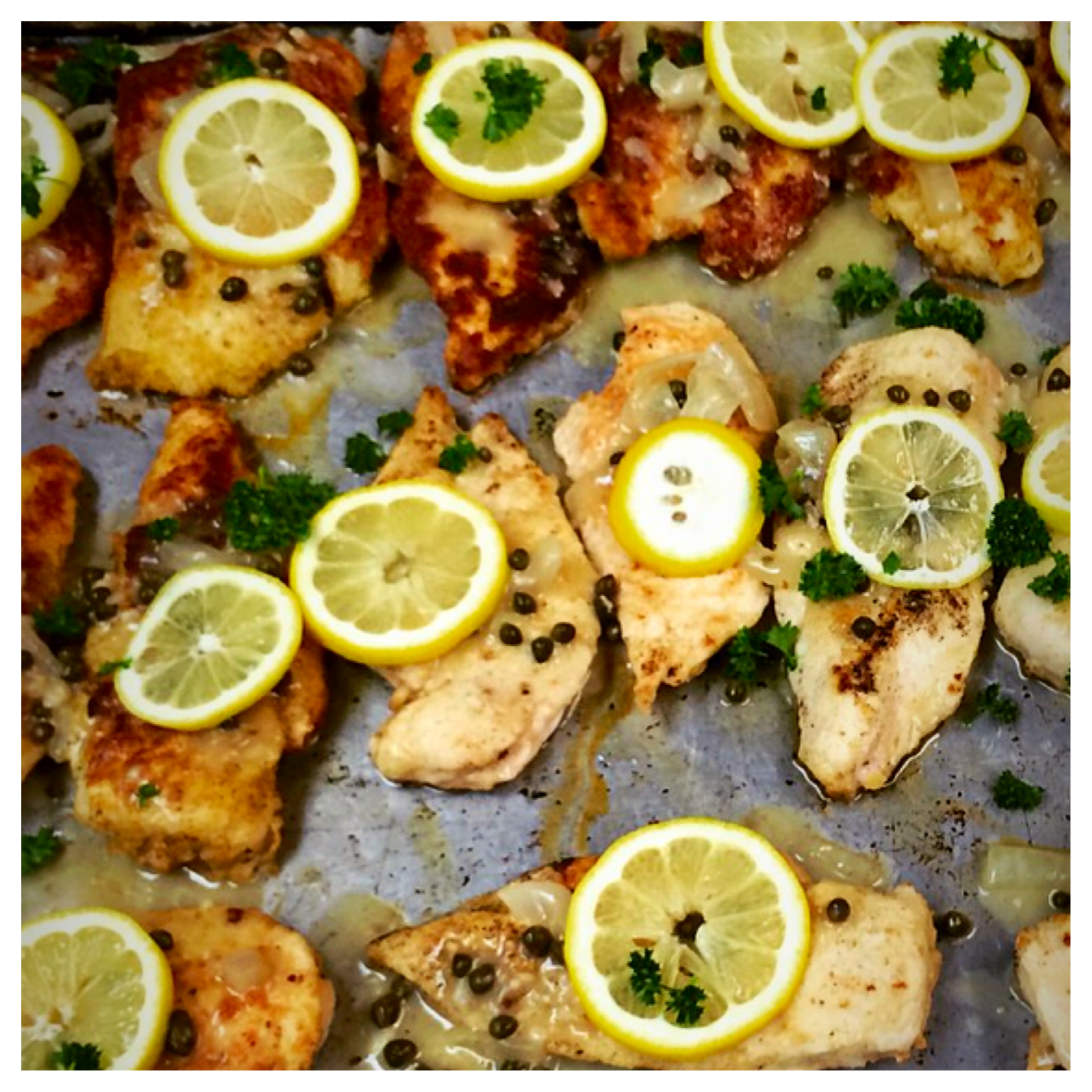 "I LOVE THE USE OF CAPERS, LEMON AND WHITE WINE TOGETHER.  THIS IS A GRET DISH FOR THE SPRING TIME.  THE FRESH AND VIBRANT FLAVORS AND COLORS ARE A PERFECT DISH FOR THE FIREHOUSE. AND IN THE INFAMOUS WORDS OF BEAVIS FROM ""BEAVIS AND BUTTHEAD"".......CHICKEN PICCATA!"