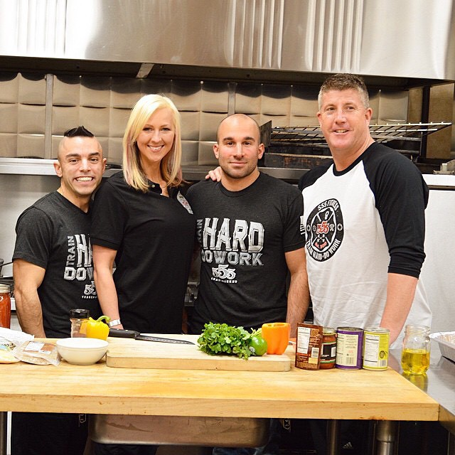 PIP, EWA AND MYSELF WHEN WE WERE ON FIREHOUSE KITCHEN TV WITH HOST RAY COONEY, Right.