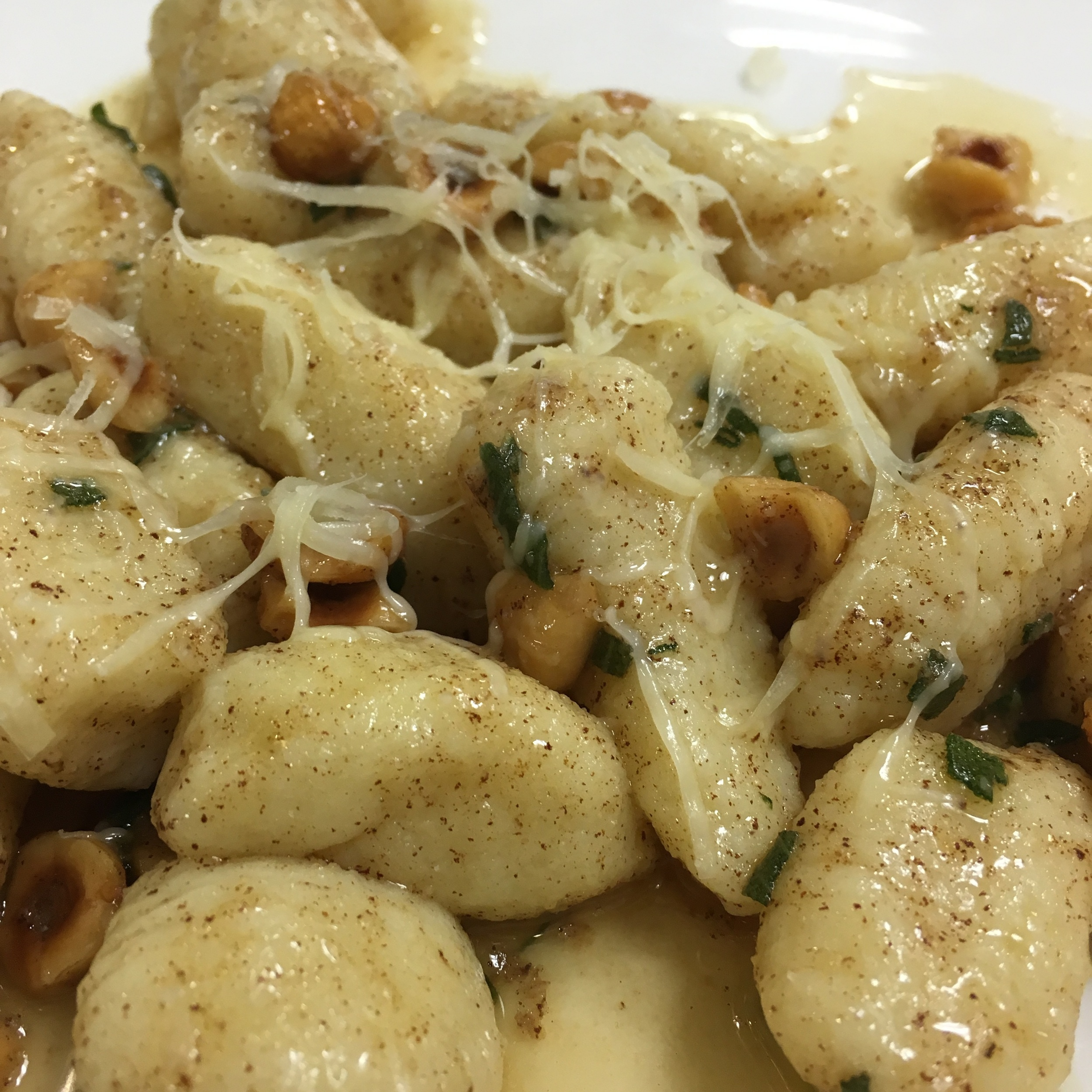 GNOCCHI WITH BROWN BUTTER, TOASTED HAZELNUT AND SAGE