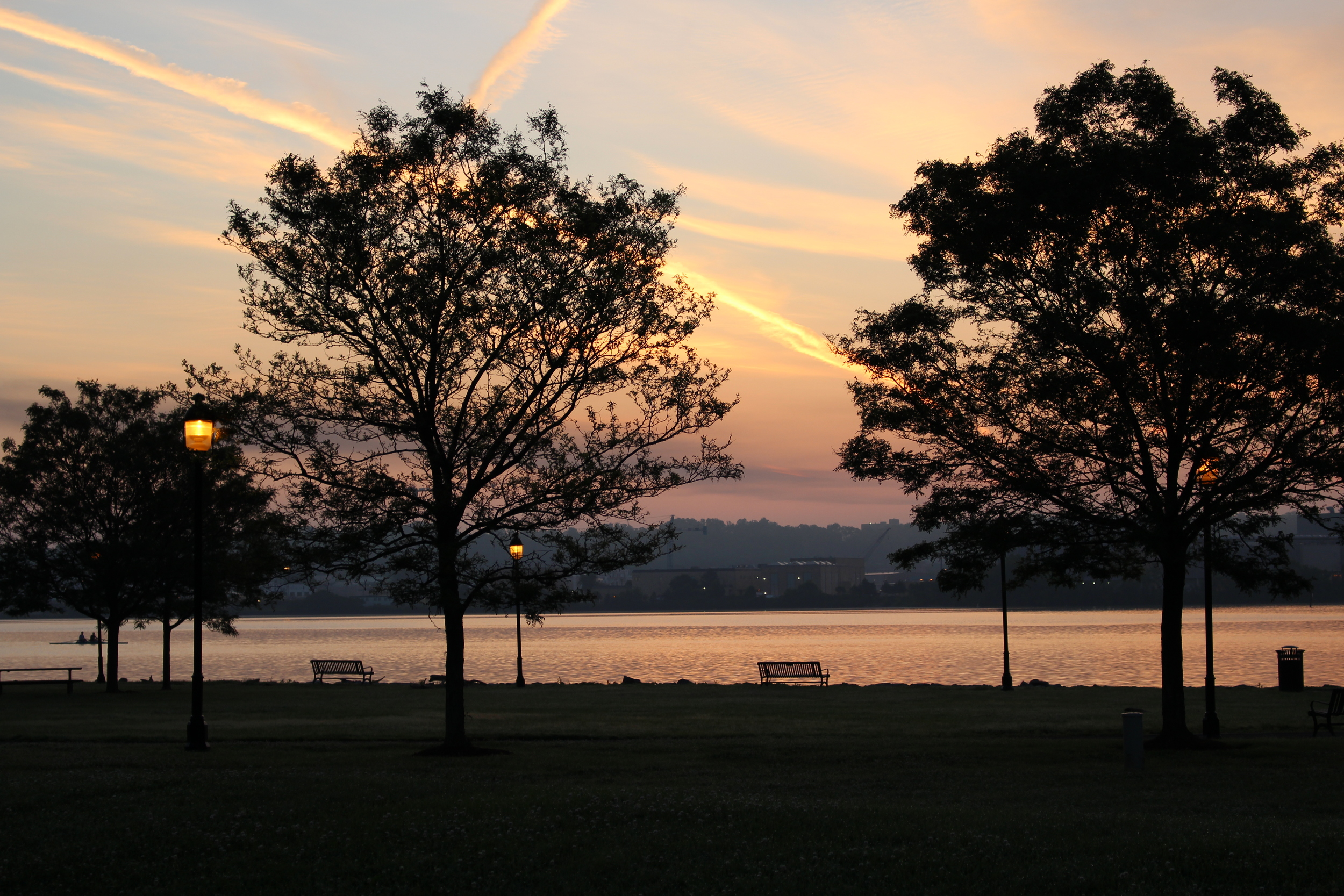 There's no point in using words to describe why it's worth getting up for sunrise along Alexandria's waterfront.