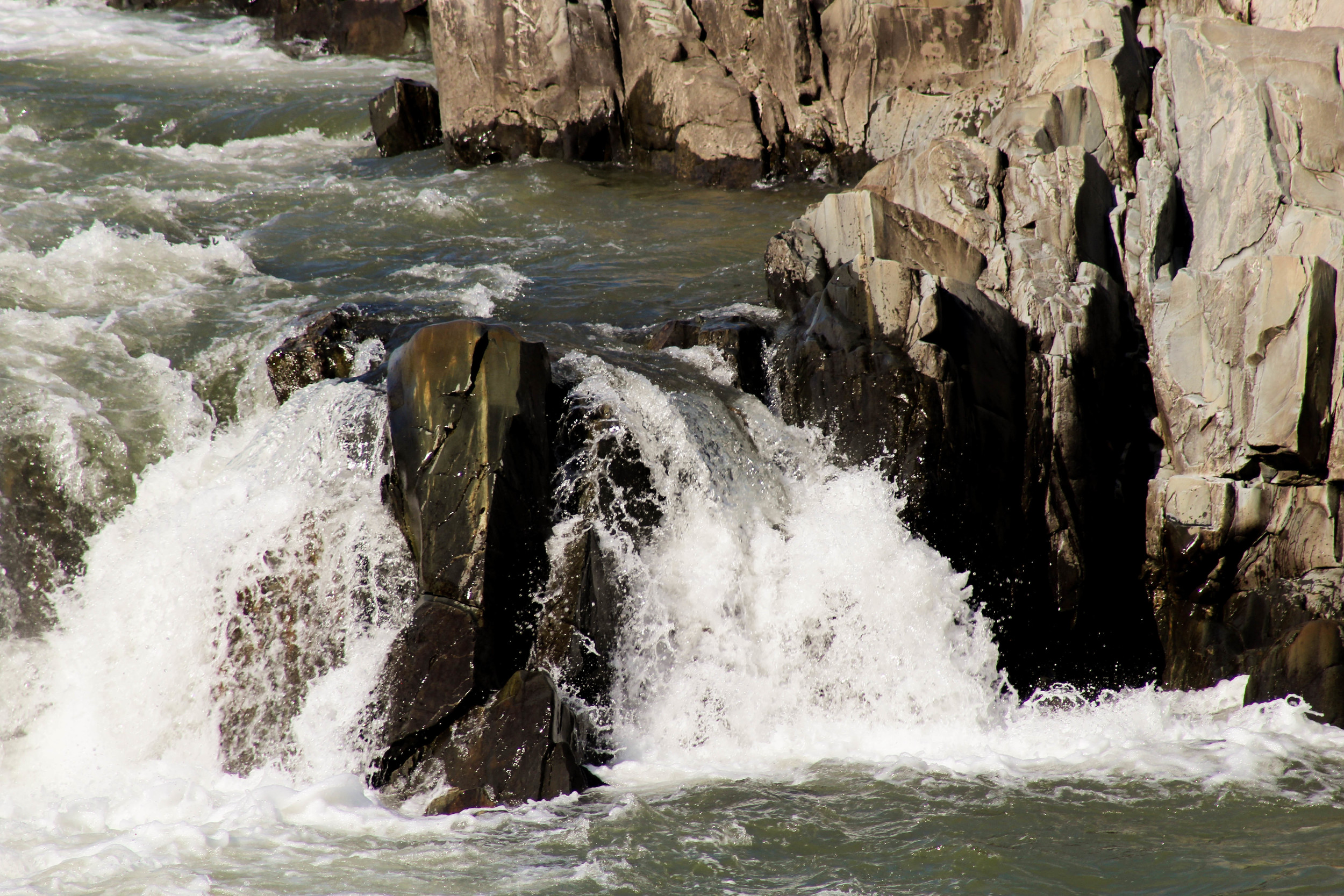 On a hot day, you might be tempted to jump into the river at Great Falls, even though it's technically illegal. But taking a nap on the rocks definitely isn't.
