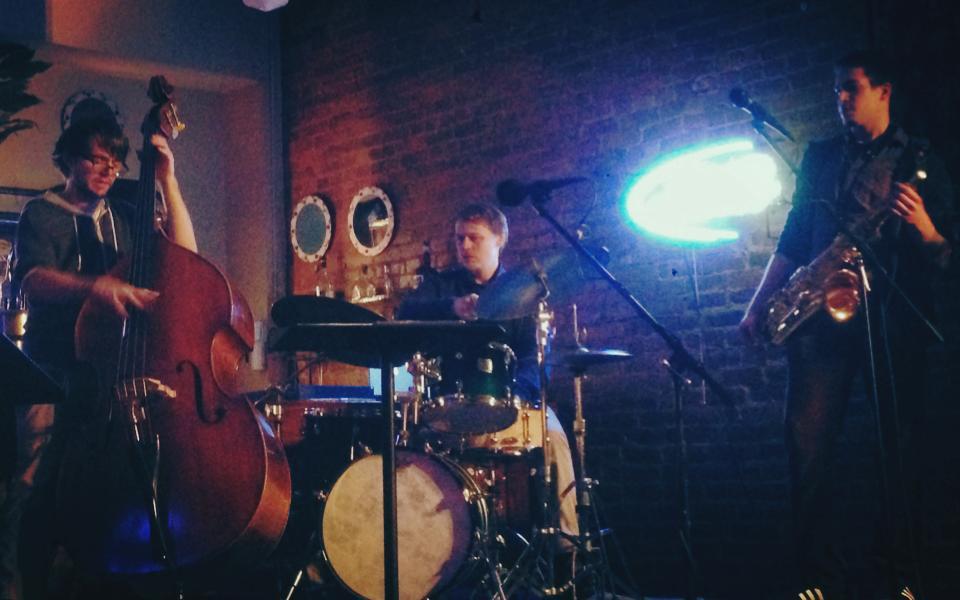 Josh Kline Trio @ Mr. Pitiful's (2014) - Photograph by Dominic Marino