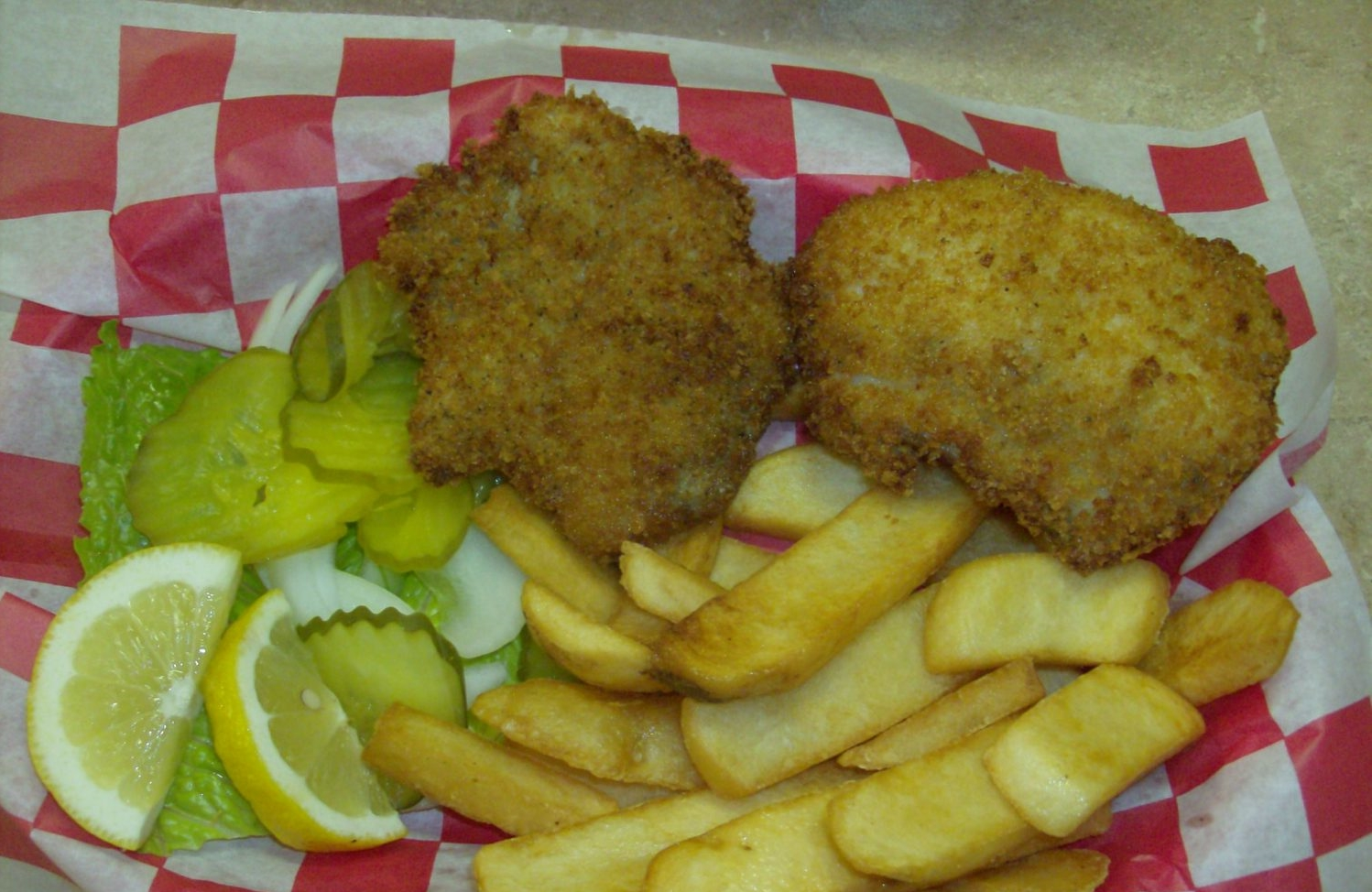 Fish Plate with Fries