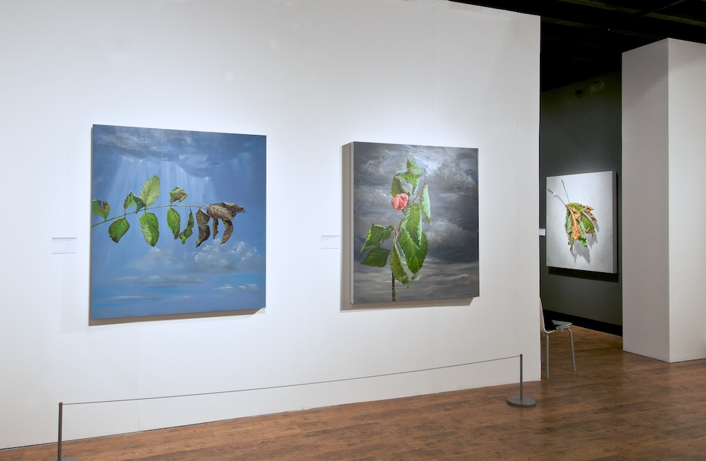"""Installation Mascalls Gallery """"When Yellow Leaves"""" Room 2"""