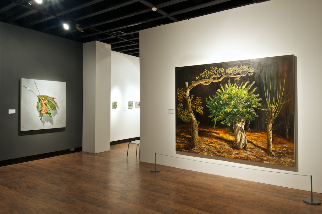 """Installation Mascalls Gallery """"When Yellow Leaves"""" Room 1"""