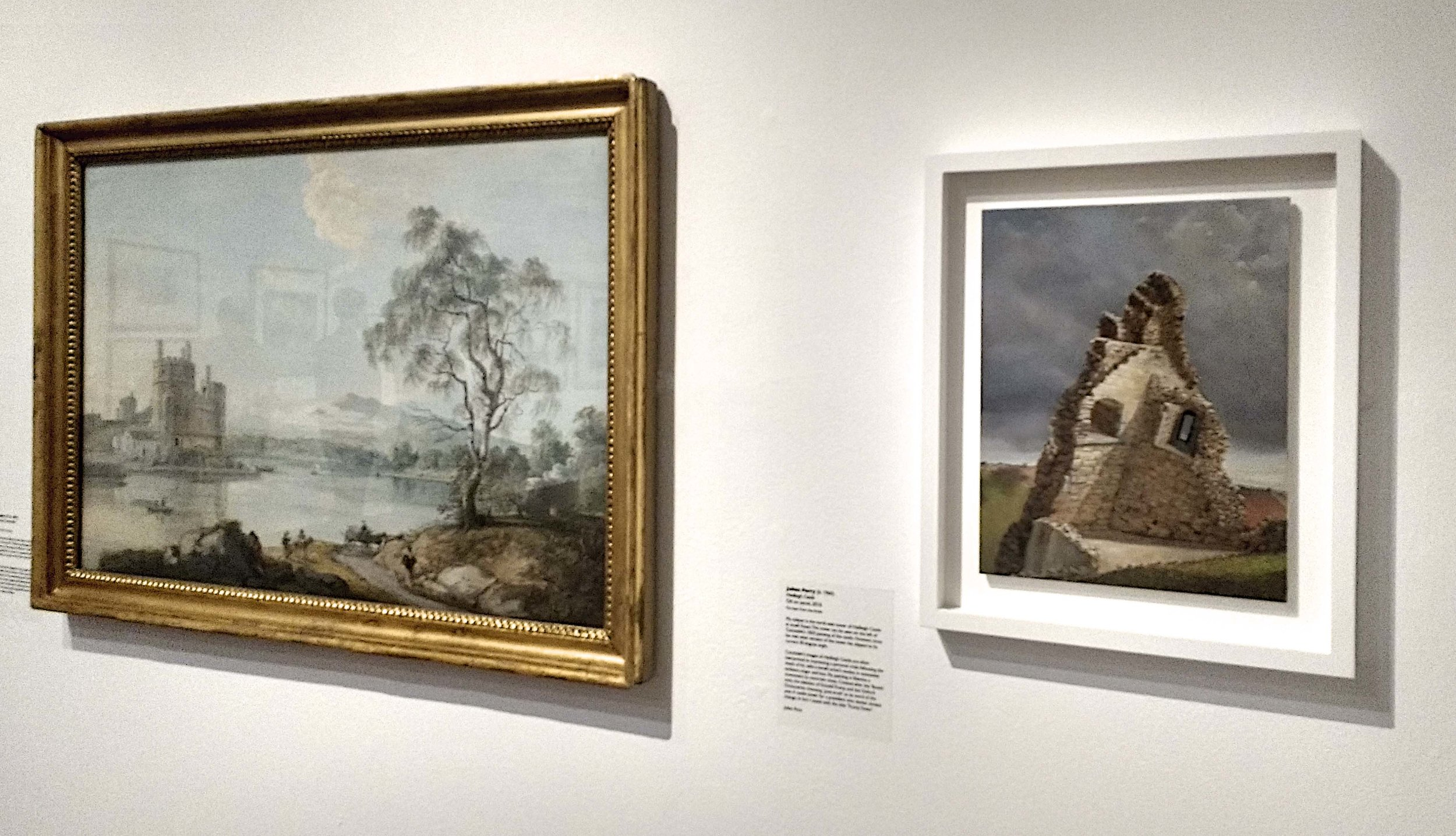 Installation at Southampton Paul Sandby on the left Juian Perry on the right