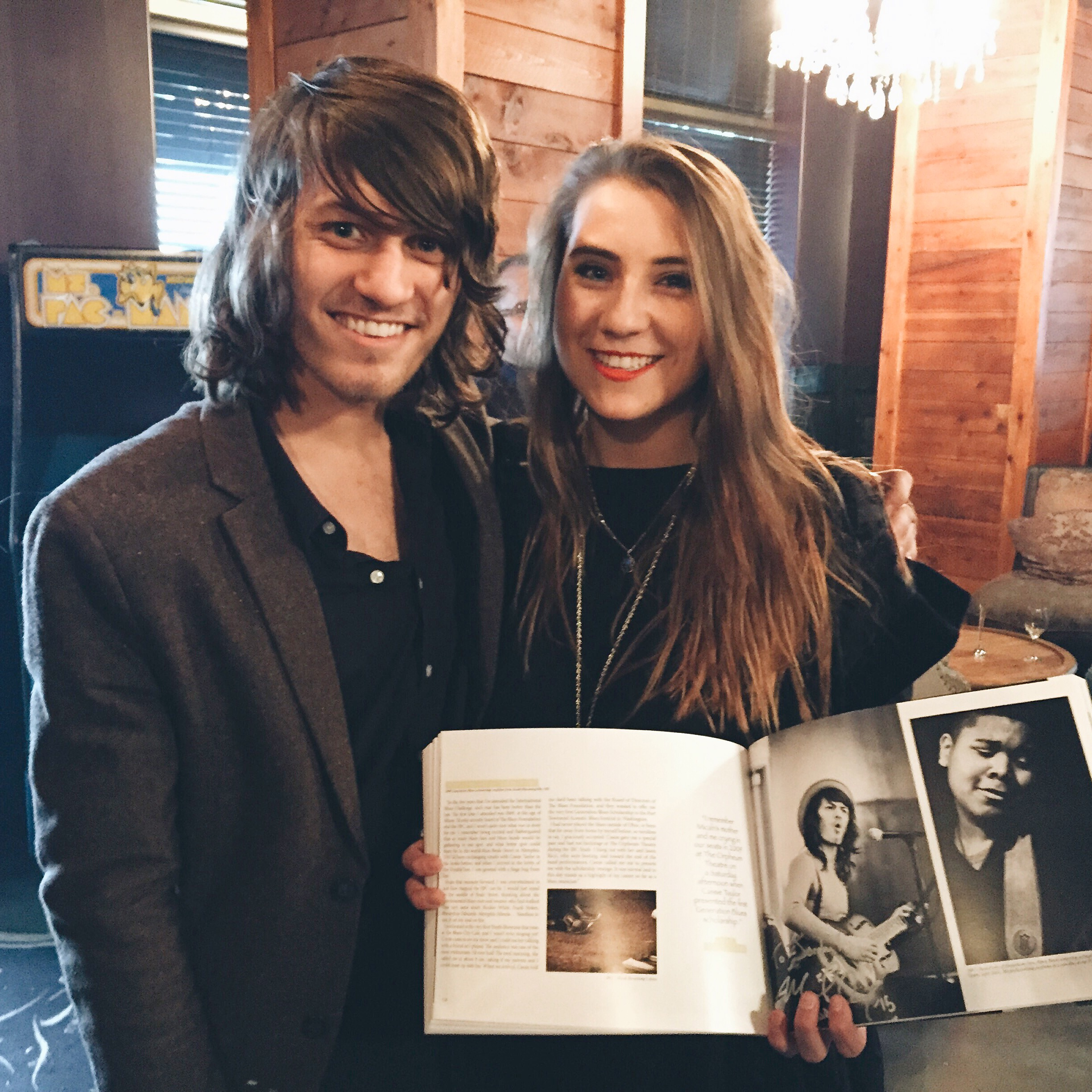 """Fangirling over  Micah Kesselring , my new friend & the nicest 21 year old blues artist you will meet. You can download his new album """"Log Cabin Blues"""" at   micahkesselring .bandcamp.com"""