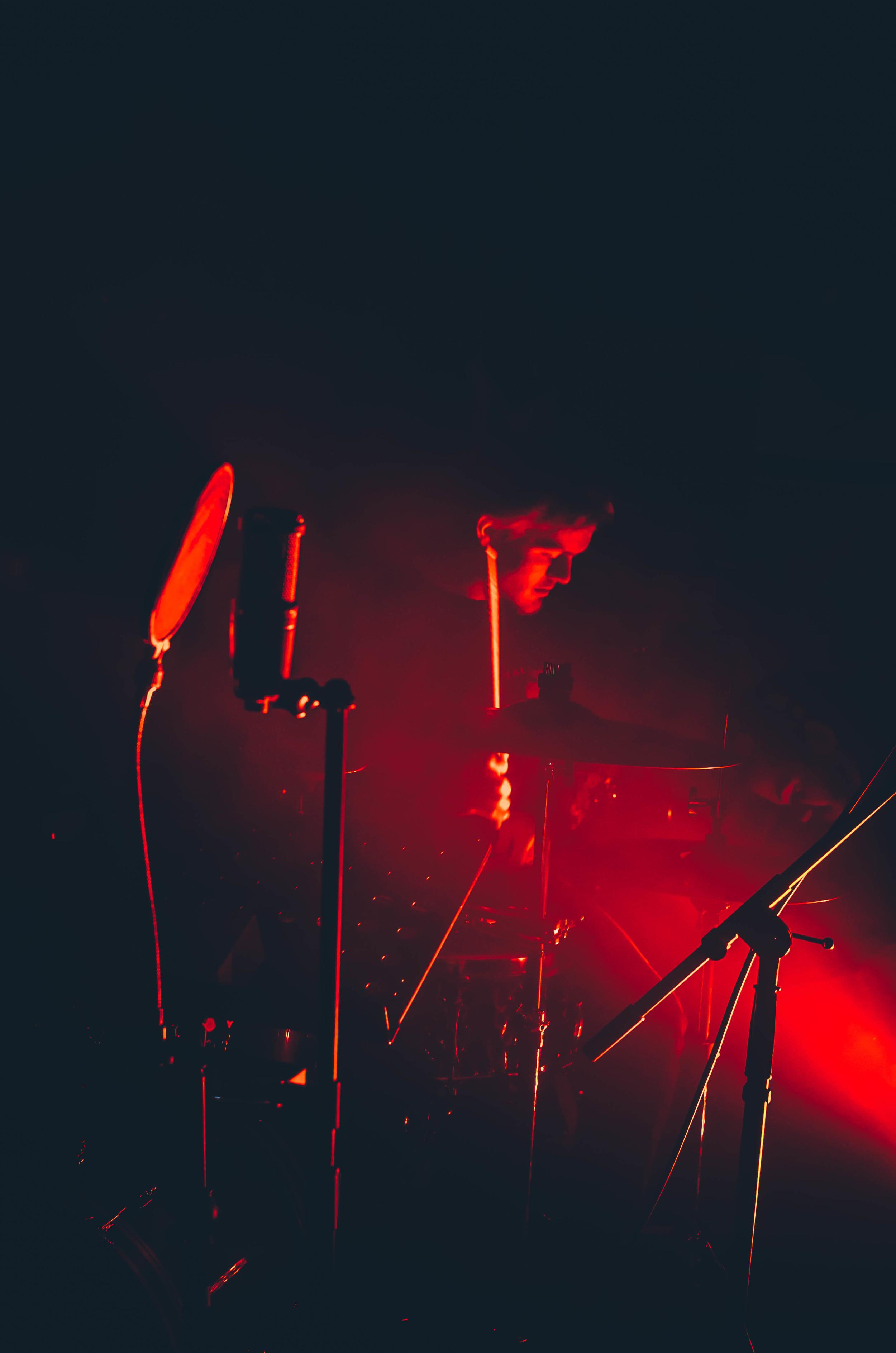 Evan slaying the drums
