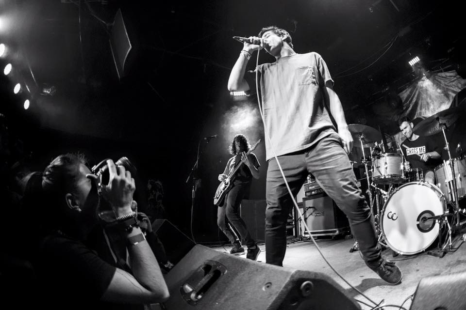 Photographing Knuckle Puck in Houston, photo by Bridget Craig