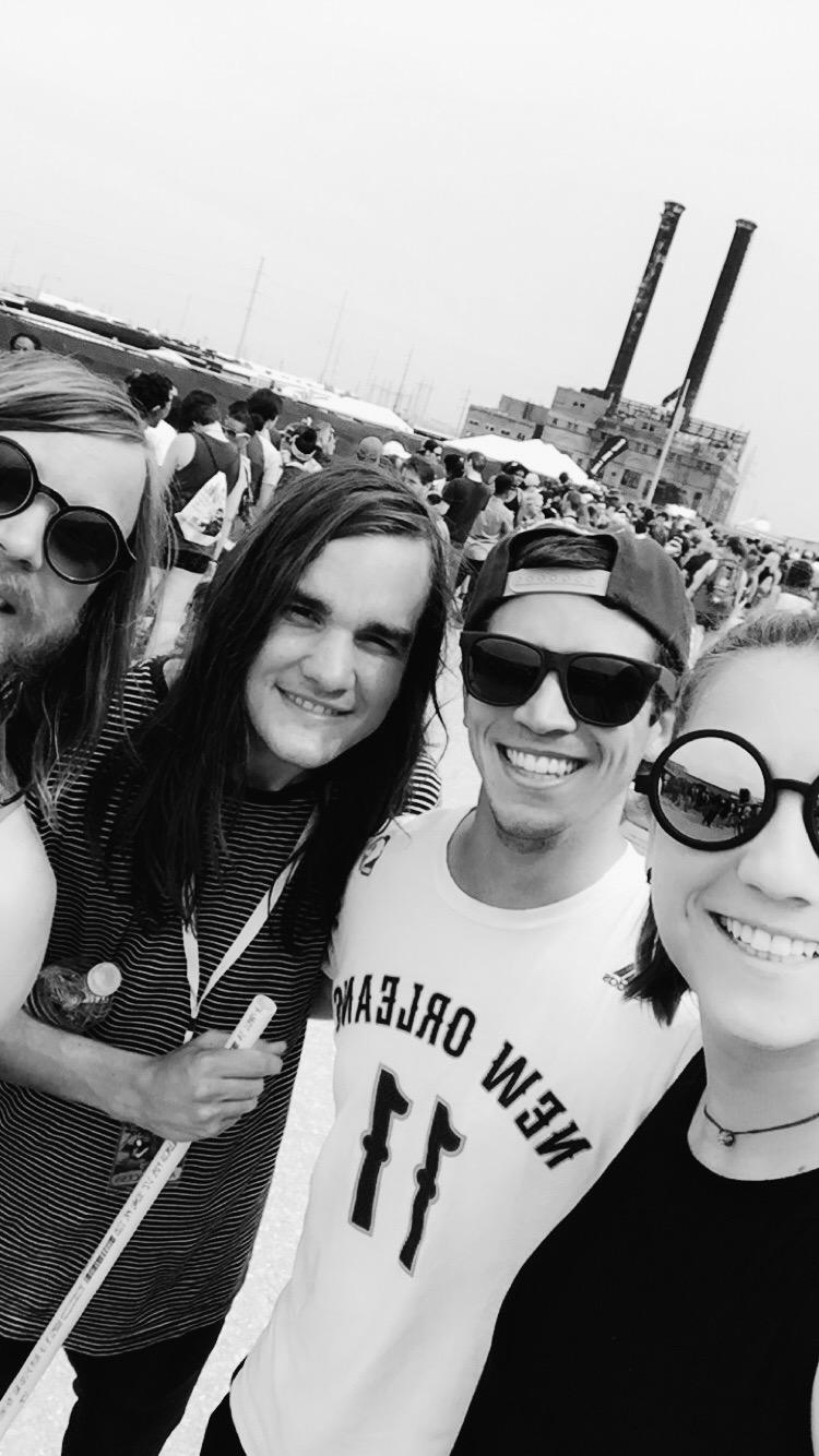 Me, Christian, and Pat & Garrett of The Maine