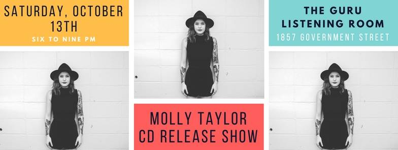 Promotional graphic via  Molly Taylor Music's Facebook . Photo by Jordan Hefler, design by Molly Taylor.
