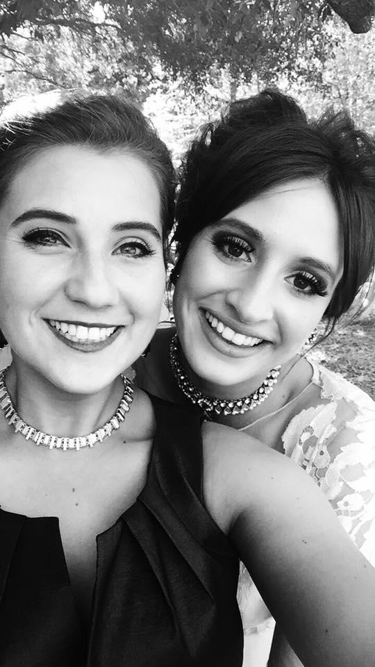 Us last weekend on Erin's wedding day