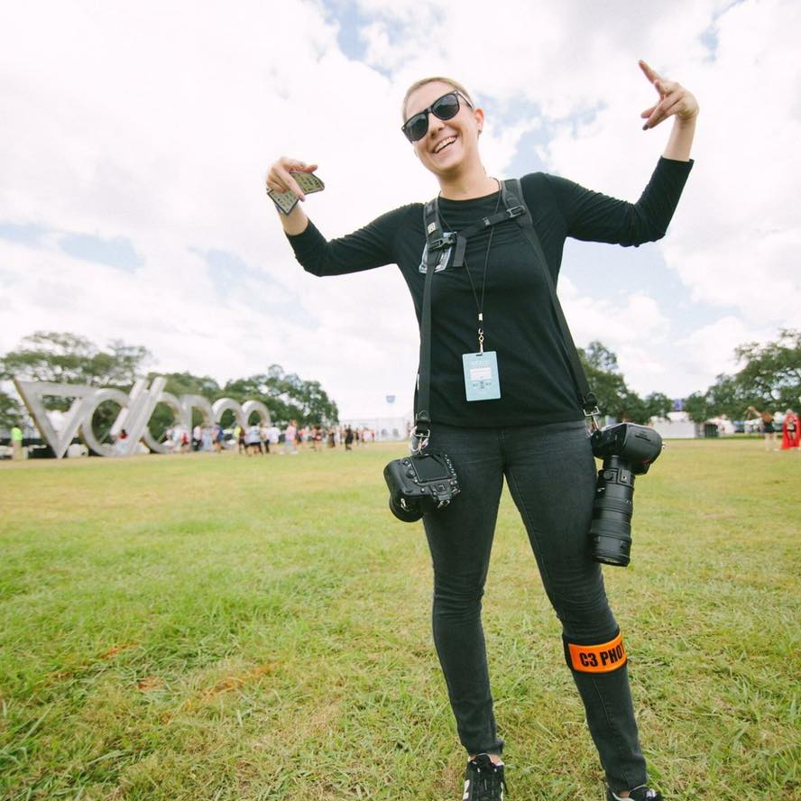 Photographing for Voodoo Music Festival in New Orleans, photo by Quinn Miller-Bedell