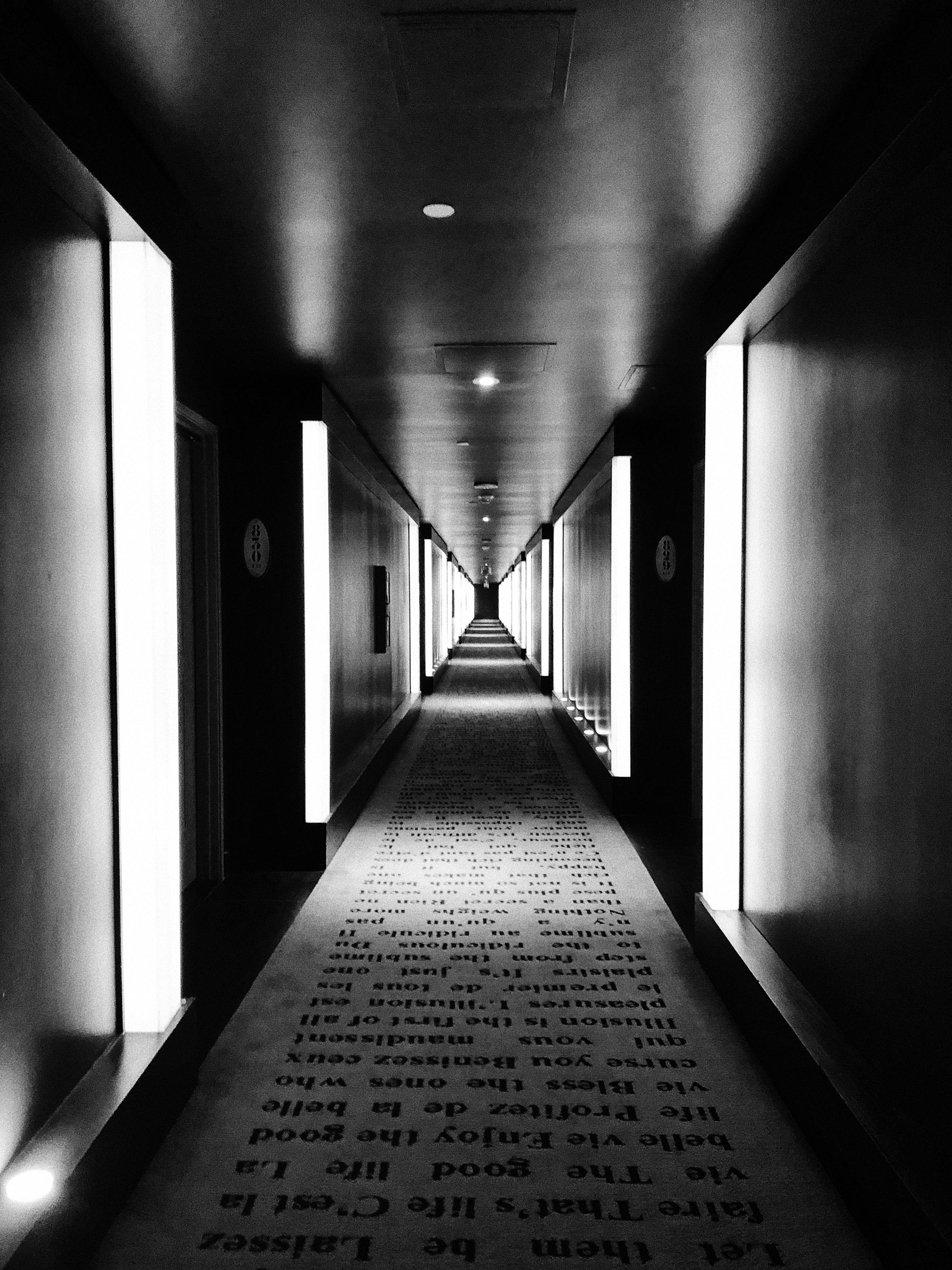 The hallways at the Cromwell