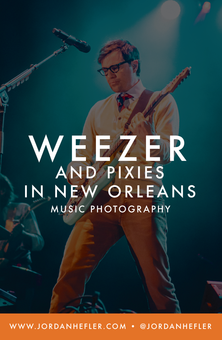 Weezer and Pixies in New Orleans   Music Photography   Jordan Hefler