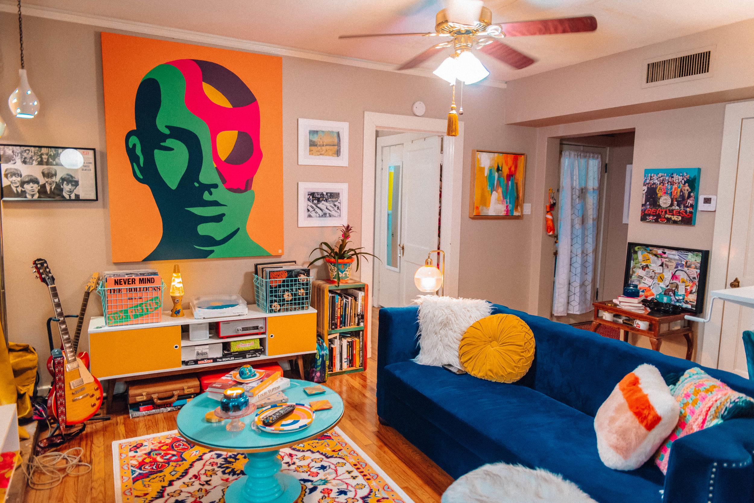 My Chromatic Home | Apartment Tour with Jordan Hefler