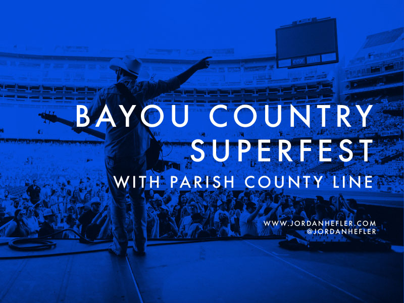 Bayou Country Superfest | Country Music Photographer | Festival Photographer | Parish County Line | Jordan Hefler